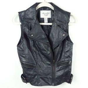 American Rag | Leather Like Black Vest
